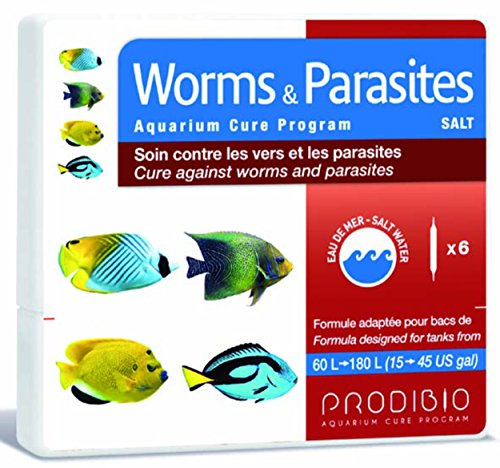 Prodibio Worms & parasiten Salt 6Bombilla Cuidado contra Gusanos infestaciones y la de los Peces Agua mar y récifaux