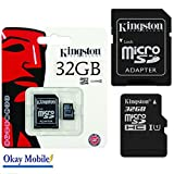 Original Kingston MicroSD Karte Speicherkarte 32 GB Für Huawei P8 / P8 LITE - 32GB
