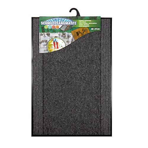 Paillasson d'intérieur | 60 x 90 cm | Paillasson gris | Idéal pour l'intérieur et l'extérieur | Tapis de nettoyage lavable 60 x 90 cm
