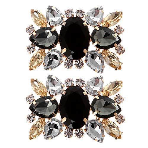 GROOMY Flor de Zapato, 2 Piezas de Diamantes de imitación de Boda...