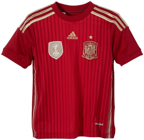 adidas Selección Española de Fútbol - Camiseta de fútbol para niño, 2014, Color Rojo, Talla 7 años (122-128 cm)