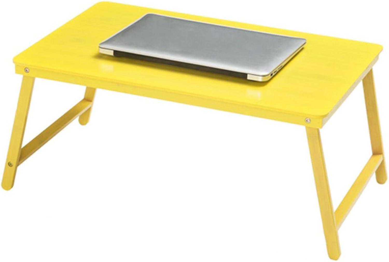 ZZHF zhuozi Folding Laptop Table Sofa Small Desk Portable Table Home Multi-Function Table Multi-color Optional 39  60  27CM (color   Yellow)