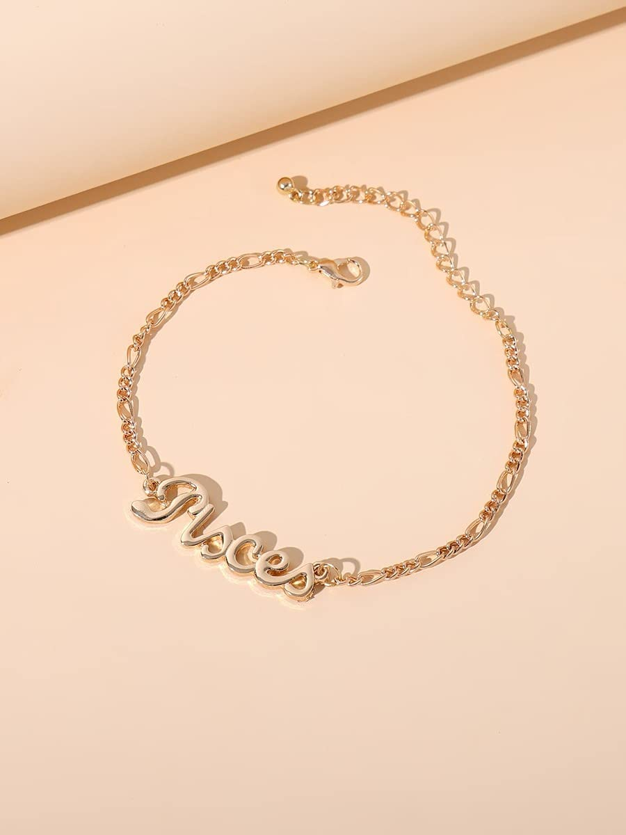 Sensecrol Charm Bracelets Pisces Regular discount Letter Cheap mail order sales Bracelet Zodiac Decor C