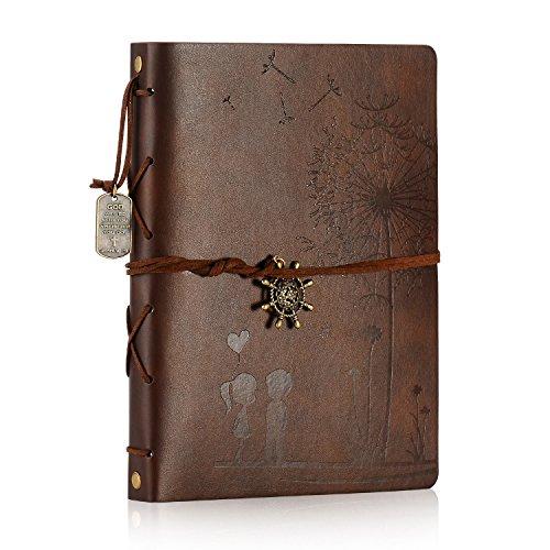 ZEEYUAN Album de Fotos, Memoria Love Grande Scrap Book Album de Fotos Cuero Libro de autoadhesivos de Familia Navidad Especial Día San Valentín Regalos día Madre Aniversario(café L)