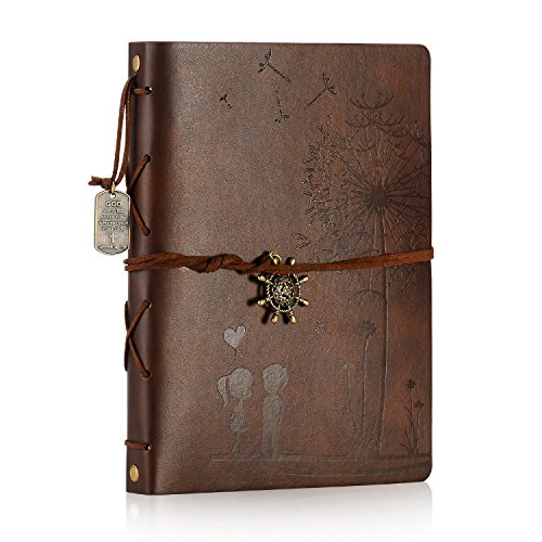 Leather Scrapbook Album Travel Album DIY Photo Album Scrapbook Supplies, Large Photo Album Memory Book for Couple Girls Christmas Valentines Birthday Anniversary Wedding Gift