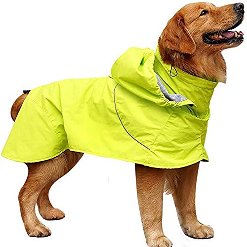 XHCP Large Dog Raincoat Golden Retriever Large Dog Hooded Legs Waterproof and...