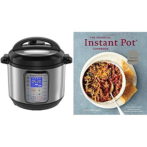 Instant Pot DUO Plus 6 Qt 9-in-1 Multi-Use Programmable Pressure Cooker with The Essential Instant Pot Cookbook