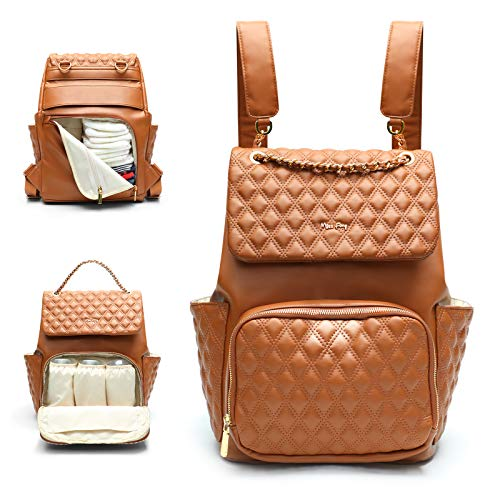 Leather Diaper Bag by miss fong,Diaper Bag Backpack, Backpack Diaper Bags