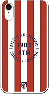 Funda para iPhone XR Oficial del Atlético de Madrid Coraje y Corazon para Proteger tu móvil. Carcasa para iPhone de Silicona Flexible con Licencia Oficial de Atlético de Madrid.