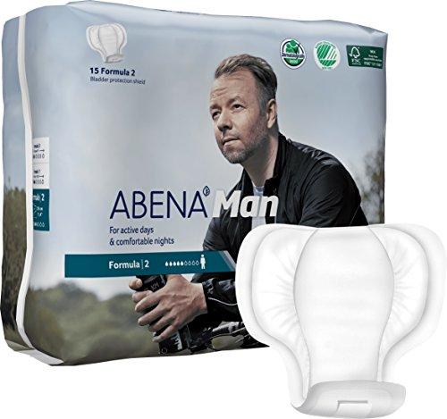 Abena Man Premium Protector de incontinencia Fórmula 2, 180 unidades (12 paquetes de 15)