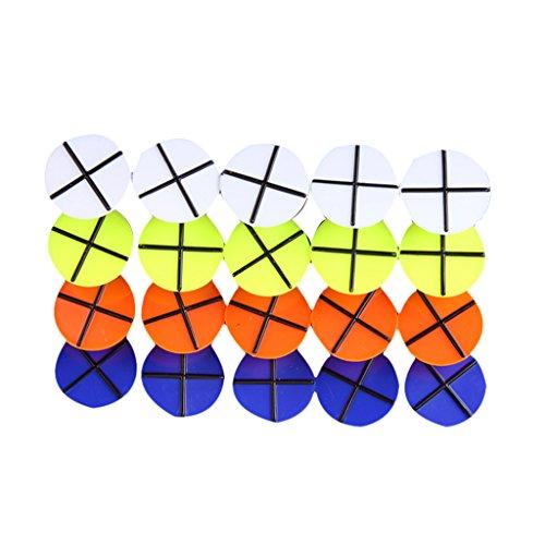 CUTICATE 20st Kunststoff Runden Querschnitt Symbol Golfball Marke