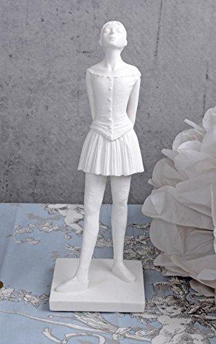 Ballerina Skulptur Weiss Balletttänzerin im Jugendstil IS215 Palazzo Exklusiv