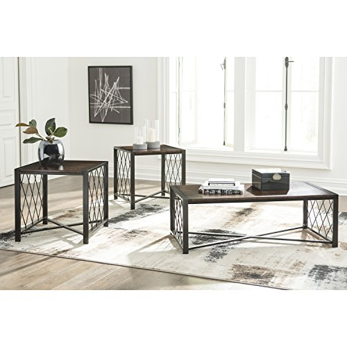 Flash Furniture Signature Design by Ashley Harpan 3 Piece Occasional Table Set