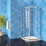 185 cm box doccia semicircolare porte scorrevoli cristallo temperato 6 mm trasparente anticalcare telaio cromato lucido 90x90 cm