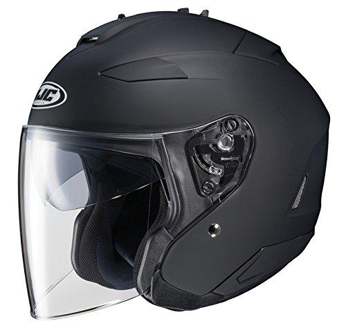 HJC IS-33 II Open-Face Motorcycle Helmet (Matte Black, Large)