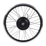 Kit de conversión de Bicicleta eléctrica MTB de 36 V / 48 V 350 W, Kit de conversión de Bicicleta eléctrica de Rueda de 20'con Controlador de Pantalla LED 28 KM/H Motor(36V 350W-Motor Delantero)