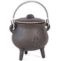 Something Different Cast Iron Cauldron with Pentagram,