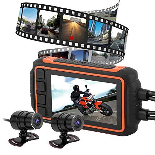 Motocicleta GPS WIFI Grabador LCD de 3', versión súper nocturna Cámara de vista frontal de motocicleta, para motocicletas Bicicleta para motociclistas adultos