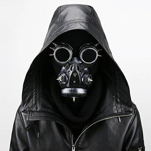 XIAOLUO Steam Retro Windschutzscheibe Gasmaske Steampunk im täglichen Leben und Halloween Kostüm Requisiten Alten Silber verwendet