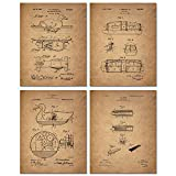 Unique Duck Hunting reproduction patent prints Add these historical conversational art pieces to your home Set of 4 photo prints, 8x10 - 8 inches by 10 inches, Prints do not come framed Premium grade photo paper, 100 year archival rating, designed to...