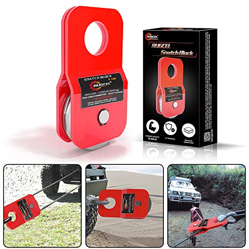 RUGCEL WINCH 4.8T Heavy Duty Recovery Winch Snatch Block,10500lb Capacity (red)