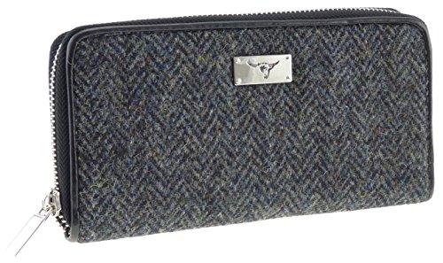 LB2100 Damen-Portemonnaie aus Harris-Tweed, mit langem Reißverschluss/Staffa LB2100.