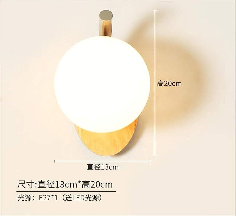 Wandleuchte LED Innen Wandlampe Wandbeleuchtung Geführtes Wand-Schlafzimmer-Nachttischlampe Des Festen Holzes Kreatives Wohnzimmergang-Treppenlicht
