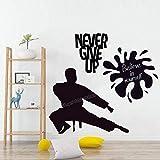 Karate Karate Never Give Up Believe In Yourself Adhesivo de pared de vinilo