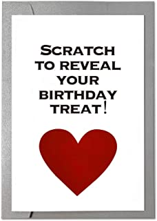 Ihopes Funny Birthday Card | Scratch Birthday Card | Naughty Birthday Cards for Him | Funny Rude Love Gift Card Perfect for Boyfriend Him Husband Fiance