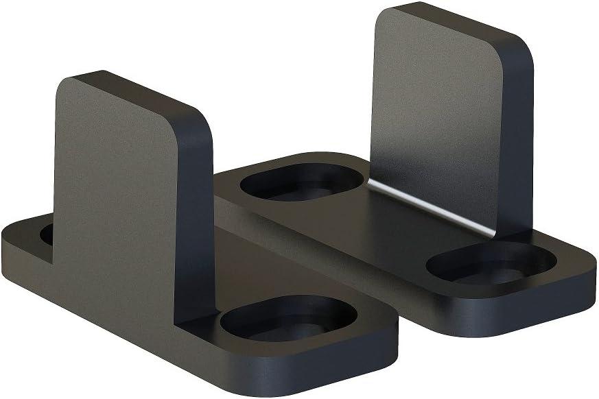JUBEST Black Aluminum low-pricing Floor Guide Hardware trust Door Byp Barn Sliding
