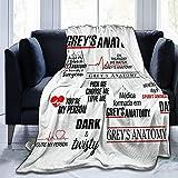 Greys-Anatomy Coperta di velluto grande coperta morbida e leggera per divani e salotti, adatta per autunno, inverno e primavera. 50 x 40 cm