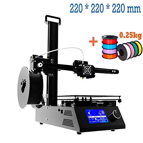 Stampante 3D, Stampa 3d Prusa I3 DIY 3D Printer, Filamento 1,75 mm [PLA, TPU, ABS] con Cornice in Alluminio, MK3 Heatbed, Double Fans, Schermo LCD per Principianti e Professionisti 220 * 220 * 220mm