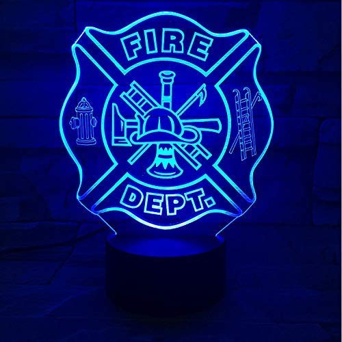 Optische illusie lamp LED brandblusser vorm 3D nachtlicht USB slaapkamer tafellamp 7 kleuren wisselende sfeer slaaplamp geschenken decor