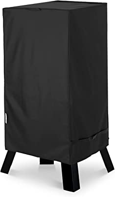 """Unicook Electric Smoker Cover, Vertical Smoker Cover, Heavy Duty Waterproof BBQ Grill Cover, Fade and UV Resistant Material, Fits Masterbuilt 40 Inch Electric Smokers and More, 28"""" W x 22"""" D x 39"""" H"""
