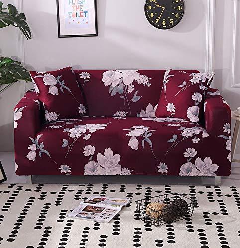 ASCV Elastische Sofabezug für Wohnzimmer Sofa Handtuch rutschfeste Sofabezug für Haustiere Strench Sofa Schonbezug Set A17 2-Sitzer