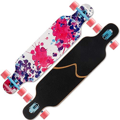 Drop Through Longboard 40 Zoll Komplette Maple Skateboards zum Carven Downhill Freestyle Cruiser Deck Freestyle Konkav Tanzen Longboard - # 1