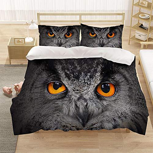 Bedclothes-Blanket Cubierta de la Colcha de Cama Cubierta de la Colcha de impresión 3D (con la Abertura y Cierre de la Cremallera), 3 Piezas (1 Cubierta de colchas + 2 pillowcasas)-18_200 * 229cm