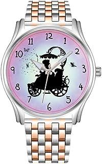 Reloj de hombre de acero inoxidable, color oro rojo, reloj de pulsera para hombre, vintage, estilo canguro, ilustración, 1...