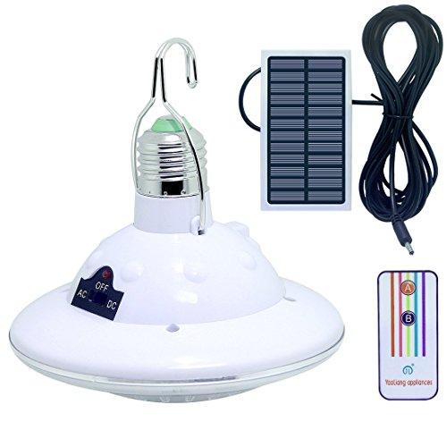 LISOPO Solarlampe 22 LED Solar Glühbirne mit Haken und Fernbedienung Für Outdoor Camping Lampe Zelt Lampe Wandern