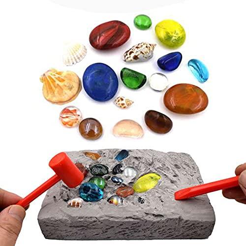 FeiyanfyQ Kit de excavación de piedras preciosas, desenterrar gemas coloridas con este kit de excavación, juguetes educativos para niños, el mejor regalo para niños y niñas 1 juego