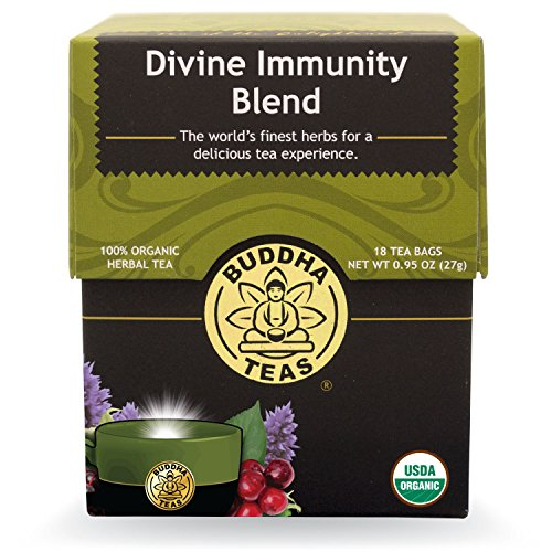 Buddha Teas Divine Immunity Blend, 18 Count (Pack of 6)