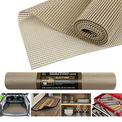Antirutschmatte Mehrzweck, Anti Rutsch Teppichunterlage Schubladenmatte Teppichstopper Rutschschutz Unterlage für Teppich Schubladen Auto Küche, Zuschneidbar 50x300cm (Beige)