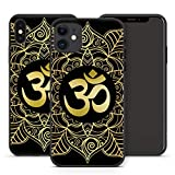 Handyhülle Om Mandala für iPhone Apple Silikon Hülle MMM Berlin Hippie Yin Goa Buddha Peace Yoga, Kompatibel mit Handy:Apple iPhone 6 Plus / 6S Plus, Hüllendesign:Design 4 | Silikon Schwarz
