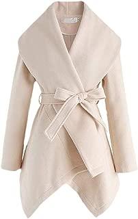 Womens Trench Wool Blend Coat Pea Coat Lapel Jacket Overcoat Cardigan