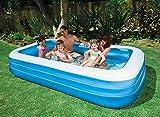 YYGQING Verano Gran tamaño 305 * 183 * 56cm Blanco Azul sobre la Piscina de Tierra Familia Piscina Piscina para Adultos Piscina Piscina