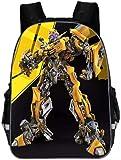 T-ransformers - Mochila escolar infantil con impresión 3D, ancho de hombro ajustable, holgada y...