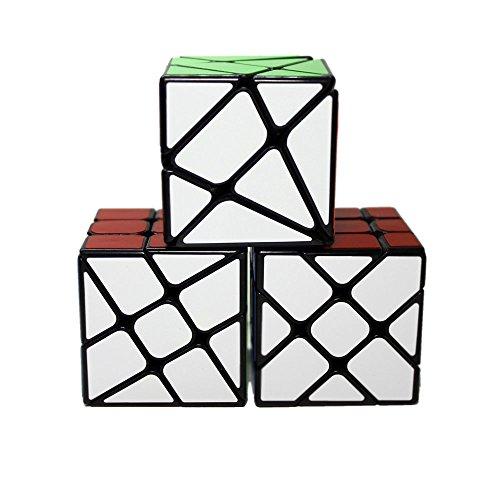 YONGJUN Paquete de 3, YJ Fisher YiLeng Cube + Molino de Rueda Rueda + Ángulo de fluctuación, Color Negro