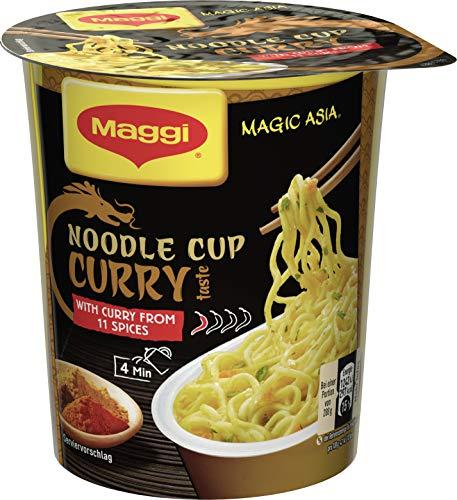 Maggi Magic Asia Curry Noodle Cup (leckeres Fertiggericht, Instant-Nudeln, aromatisch-pikant, mit Gemüse verfeinert) 1er Pack (1 x 63g)