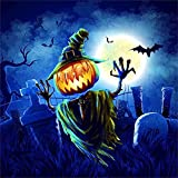 YTQQ-Halloween-DIY Digital Painting for Beginners, Adult Canvas Oil Painting Set, with Brush, Paint, Acrylic Paint-40X50cm