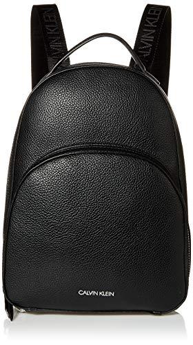 Calvin Klein Damen Backpack Estelle Novelty Rucksack, schwarz/Silber, Einheitsgröße